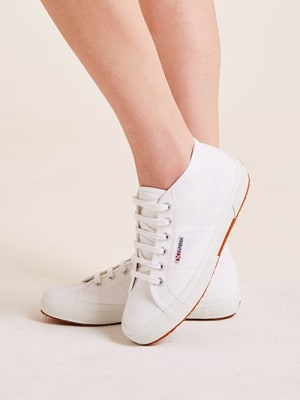 White High Top Superga Trainer