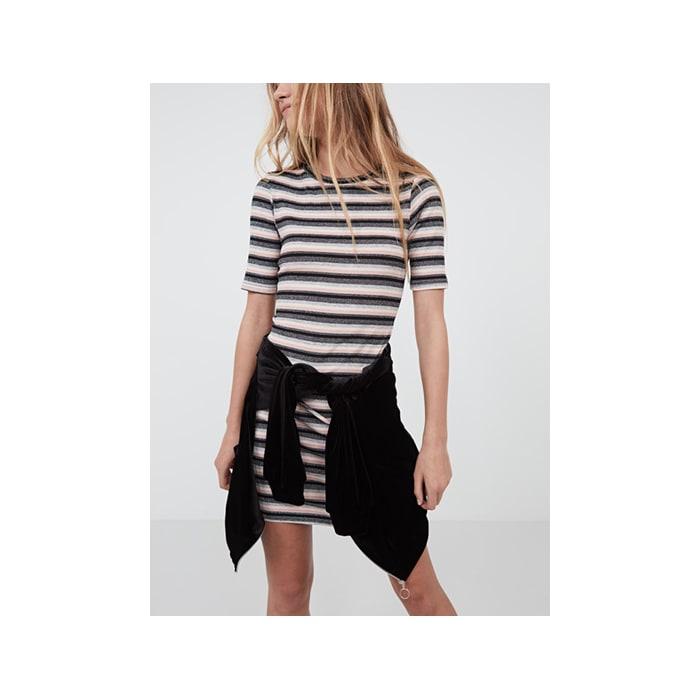 0050c0d55851 pink Lurex stripe tshirt dress