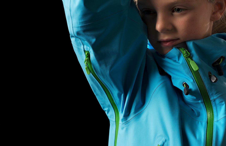 Kids ski jacket vent zipper - Norrona falketind
