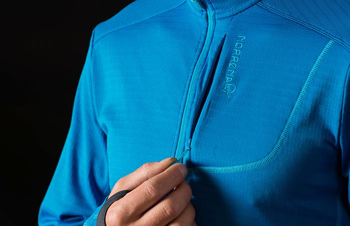 Norrøna bitihorn powerdry sweater - chest pocket
