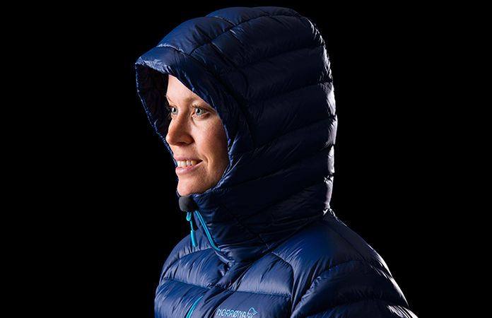 Norrøna lyngen lightweight down750 jacket for women - hood