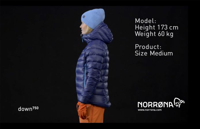 Norrøna lyngen lightweight down750 jacket for women ski touring