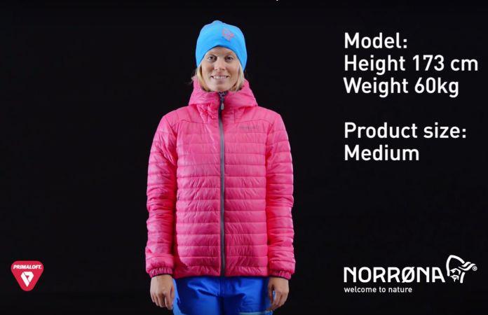 Lightweight hooded jacket - Norrona falketind Primaloft100 for women