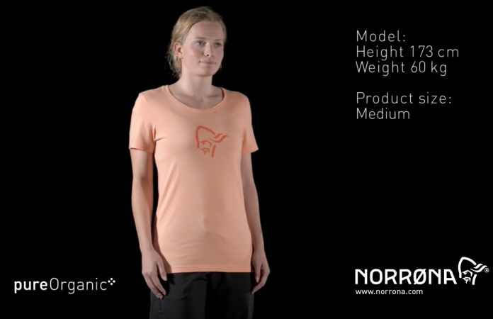 Norrøna cotton logo t-shirt for women