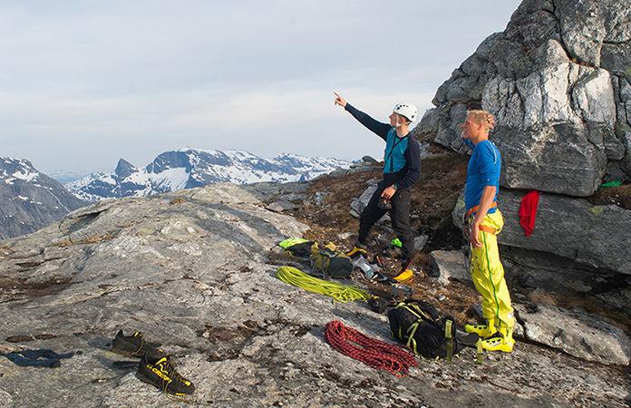 Norrøna bitihorn waterproof pants for climbing and trekking