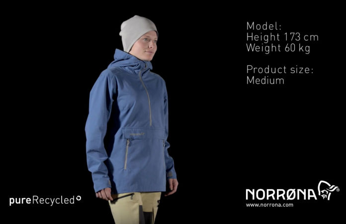 Norrona svalbard organic cotton Anorak for women