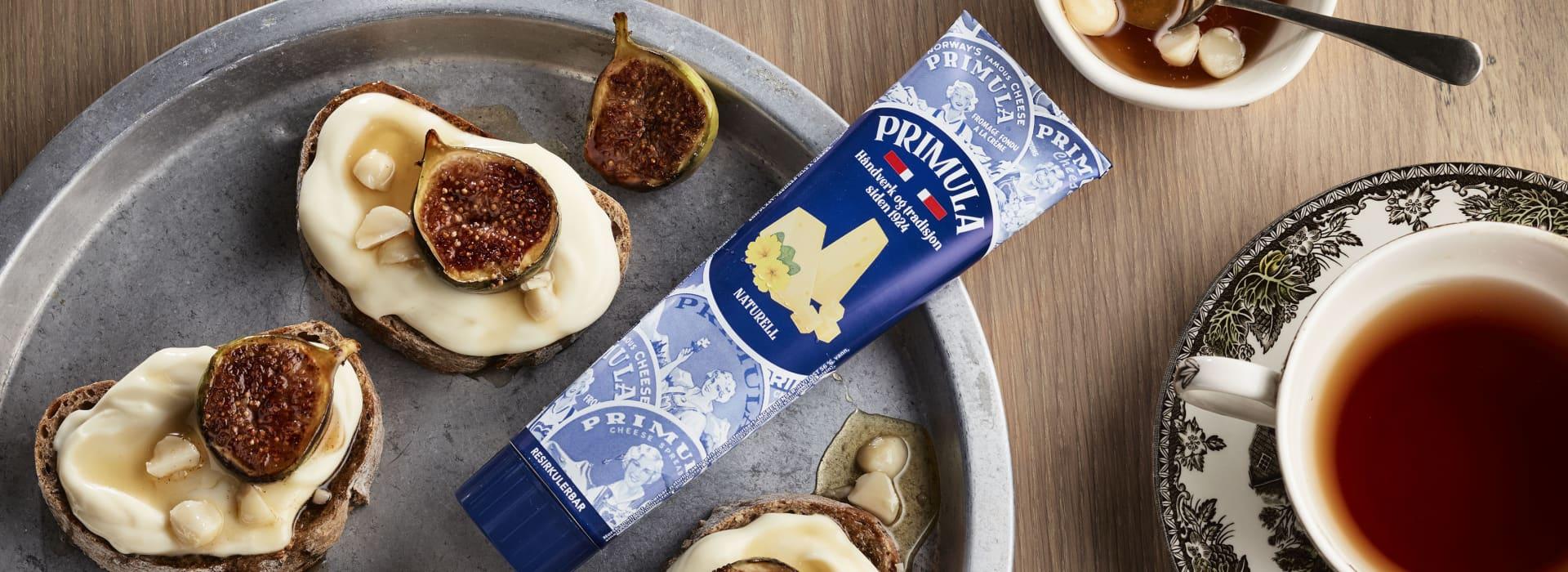 Pariserbrød med Primula, fiken og honning