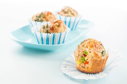 Sunne og gode matmuffins med Kavli MagerOst Kylling lages på bare 30 minutter.