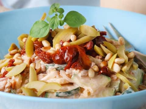 Risotto på matvete, zucchini och Planti Cooking Fraiche Paprika Chili