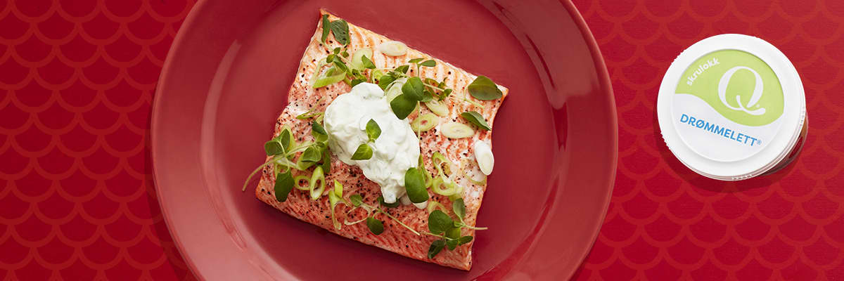 Ovnsbakt ørretfilet med Q Drømmelett® er god hverdagsmat. Enkel og raskt å lage, og smakfullt å spise.