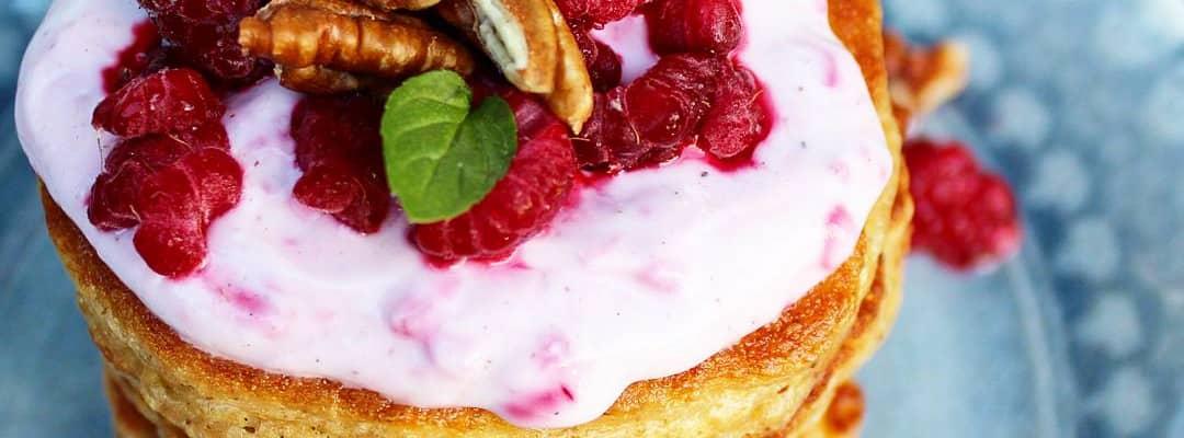 Bilde av pannekaker med Q Gresk Yoghurt