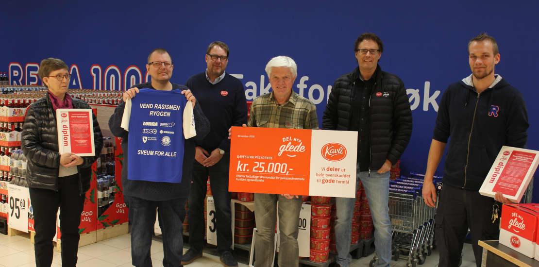 Kavli-støtte til lokalt fotballag for funksjonsnedsatte