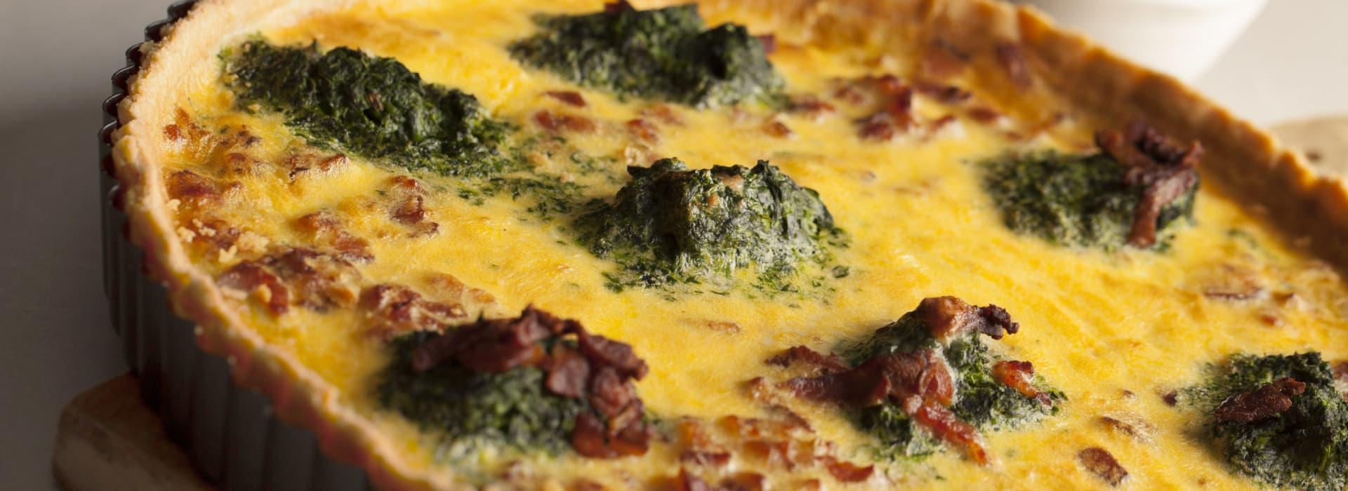 Sunn og velsmakende pai med spinat og Kavli BaconOst