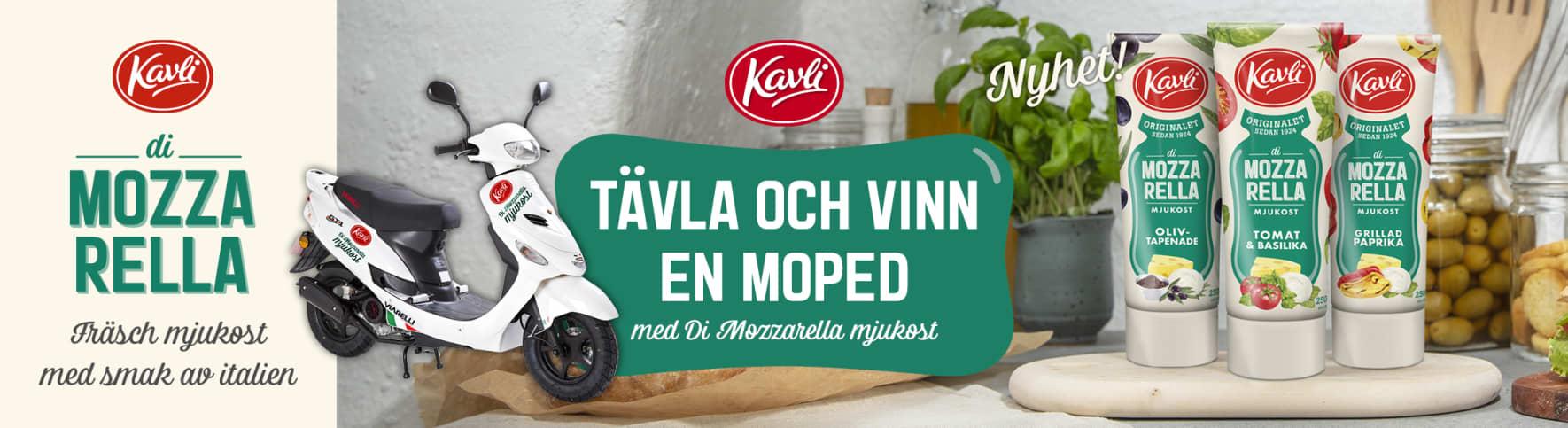 Tävla och vinn en moped med Kavli Di Mozzarella