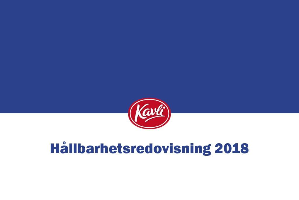 Kavli Hållbarhetsredovisning 2018 logo