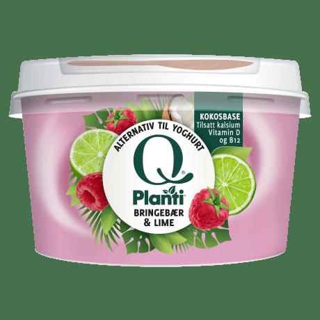 Q® Planti® Bringebær & Lime alternativ til Yoghurt