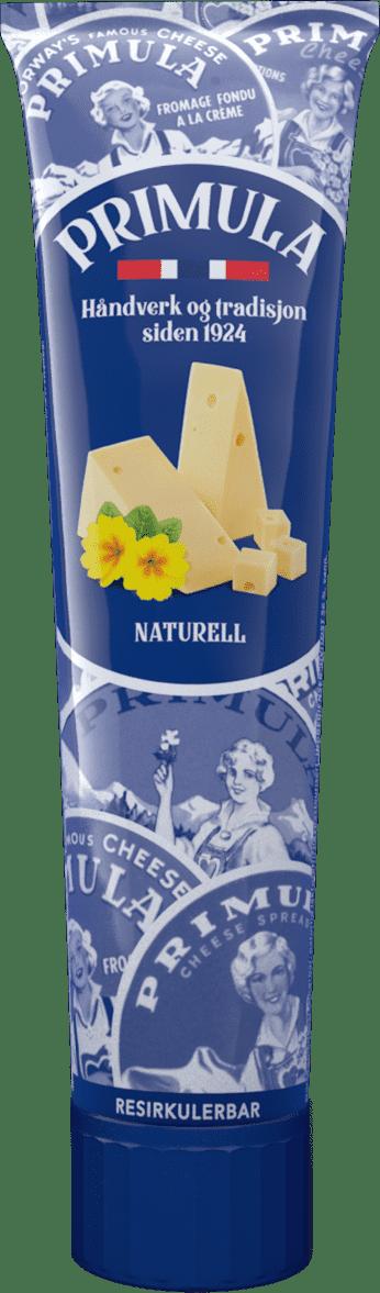 Primula Naturell på tube. Laget med norsk hvitost. Håndverk og tradisjon siden 1924.