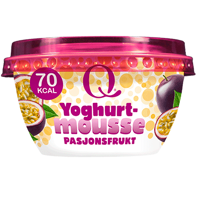 Q® Yoghurtmousse med smak av pasjonsfrukt