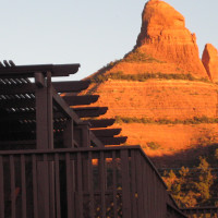 a view of red rocks from SEDONA VIEWS B&B