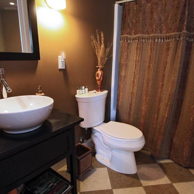 bathroom at The Villa at Waters Edge - a Luxury Vacation Rental on Lake Wylie in Belmont NC