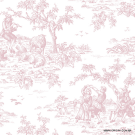 Papel de parede Decoração Toile de Jouy Origini 26-92 Rose Garden