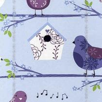 Papel de parede Decoração Infantil Pássaros Origini 139-32