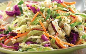 Asian-Flavored Coleslaw with Rice Vinegar and Ginger