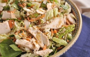 Sesame Rice and Chicken Salad