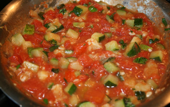 Zucchini and Tomato Sauce with Fresh Herbs