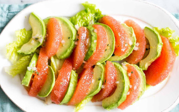 Grapefruit Avocado Salad with Plum Dressing