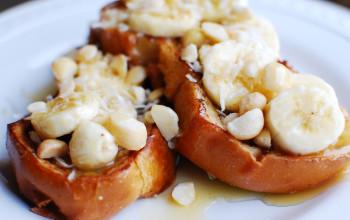 Oven-Baked Banana Macadamia French Toast