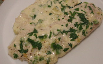 Tilapia with Jalapeno Cheese Sauce