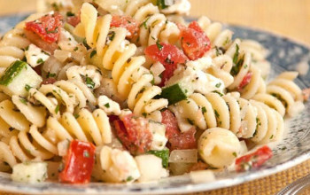 Herbed Rotini with Vegetables and Feta Cheese