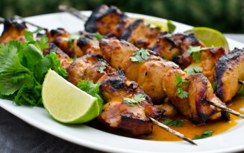 Honey Lime Glazed Chicken Kabobs
