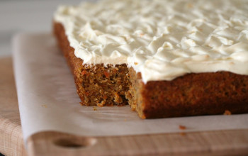 Honey Carrot Cake with Honey Cream Cheese Frosting