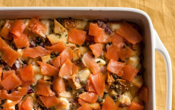 Smoked Salmon and Potato Brunch Casserole