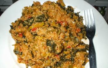 Leek-Tomato Quinoa