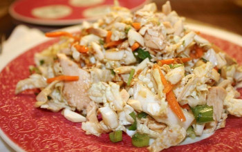 Ginger Chicken Salad with Peanut Dressing