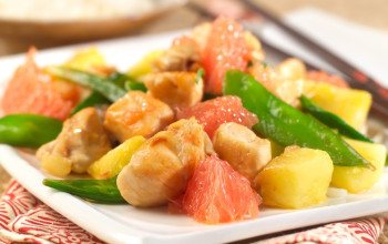 Grapefruit and Chicken Stir Fry