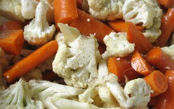 Cauliflower and Carrot Pie