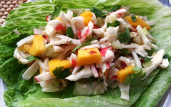 Mock Crab and Mango Salad