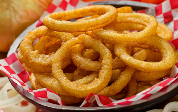 Red Hot Red Onion Rings
