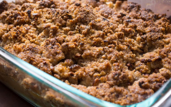 Brown Sugar Streusel Pie