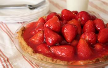Strawberry Custard Pie