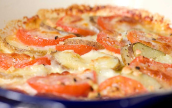 Potato Tomato Cheese Bake