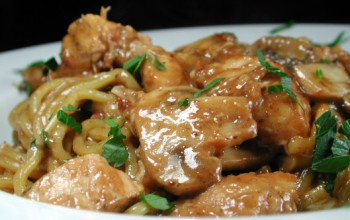 Italian Chicken with Mushroom-and-Wine Sauce