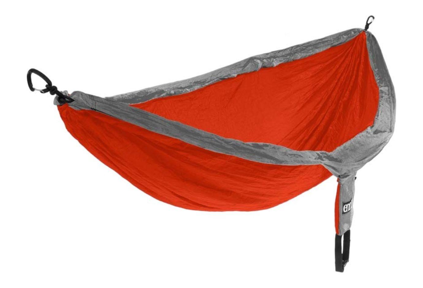 Eno Double Nest Camping Hammock Orange Grey