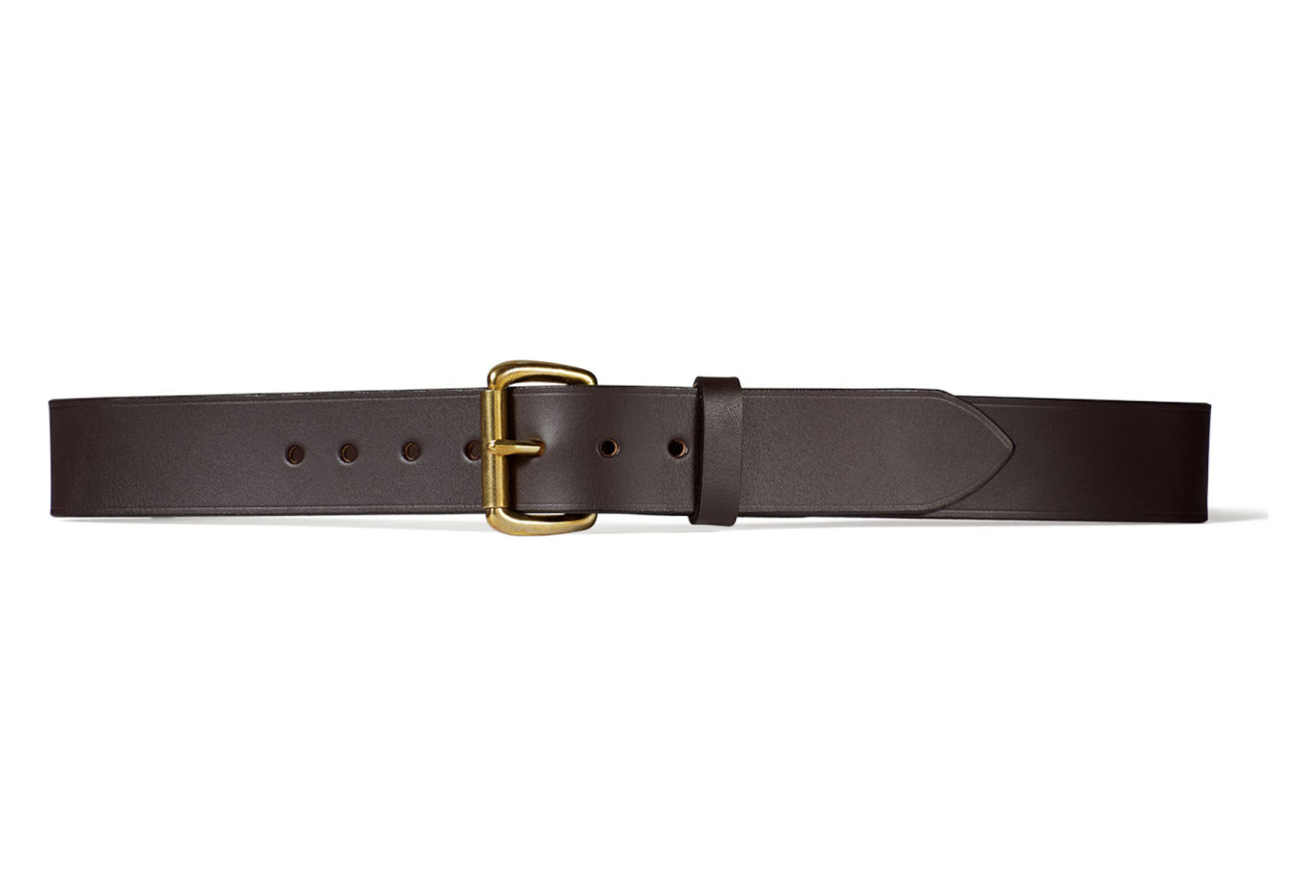filson 63202 1 1 2 inch leather belt brown 50