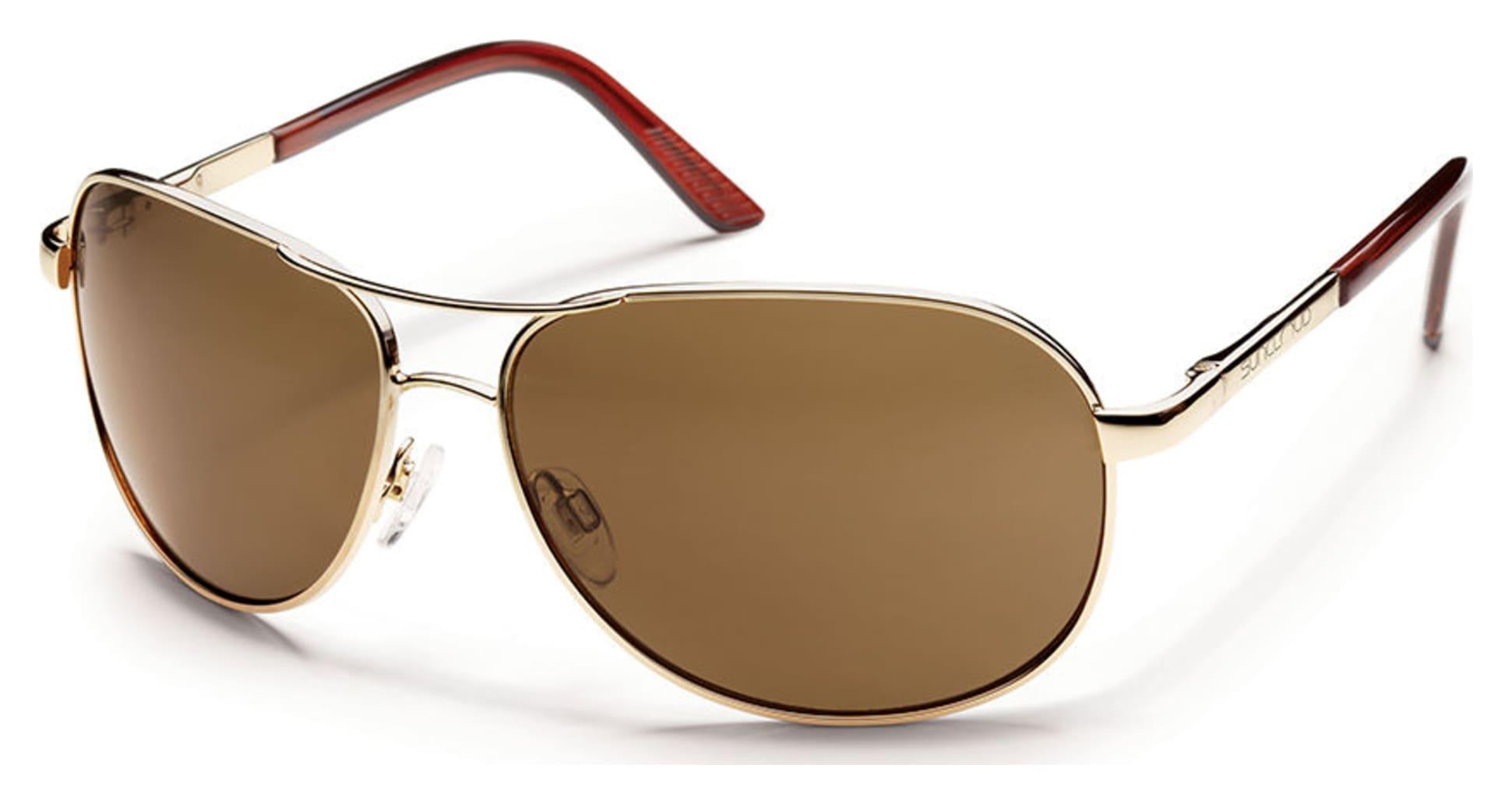 Aviator Sunglasses Gold Frame Brown Lenses : Suncloud Aviator Sunglasses Gold Frames, Brown Lens