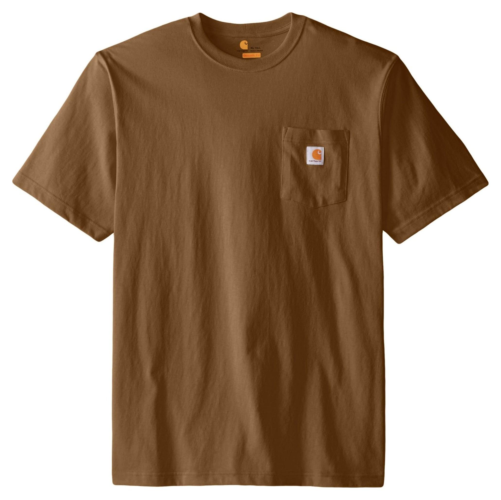 Carhartt Men 39 S Workwear Pocket T Shirt Tall Brown Xxl